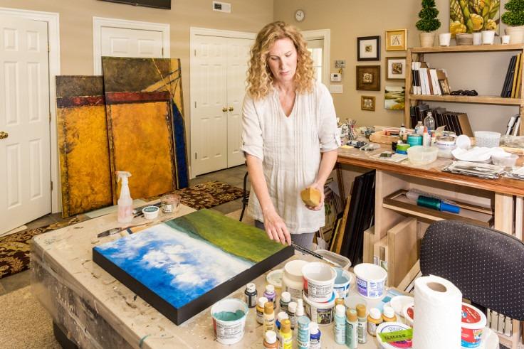 Michelle in studio