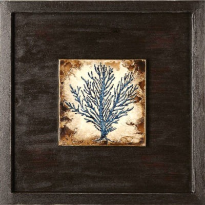 Indigo Coral Shadowbox No. 1