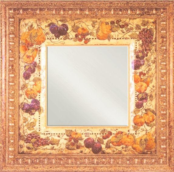 Jeweled Fruits Mirror
