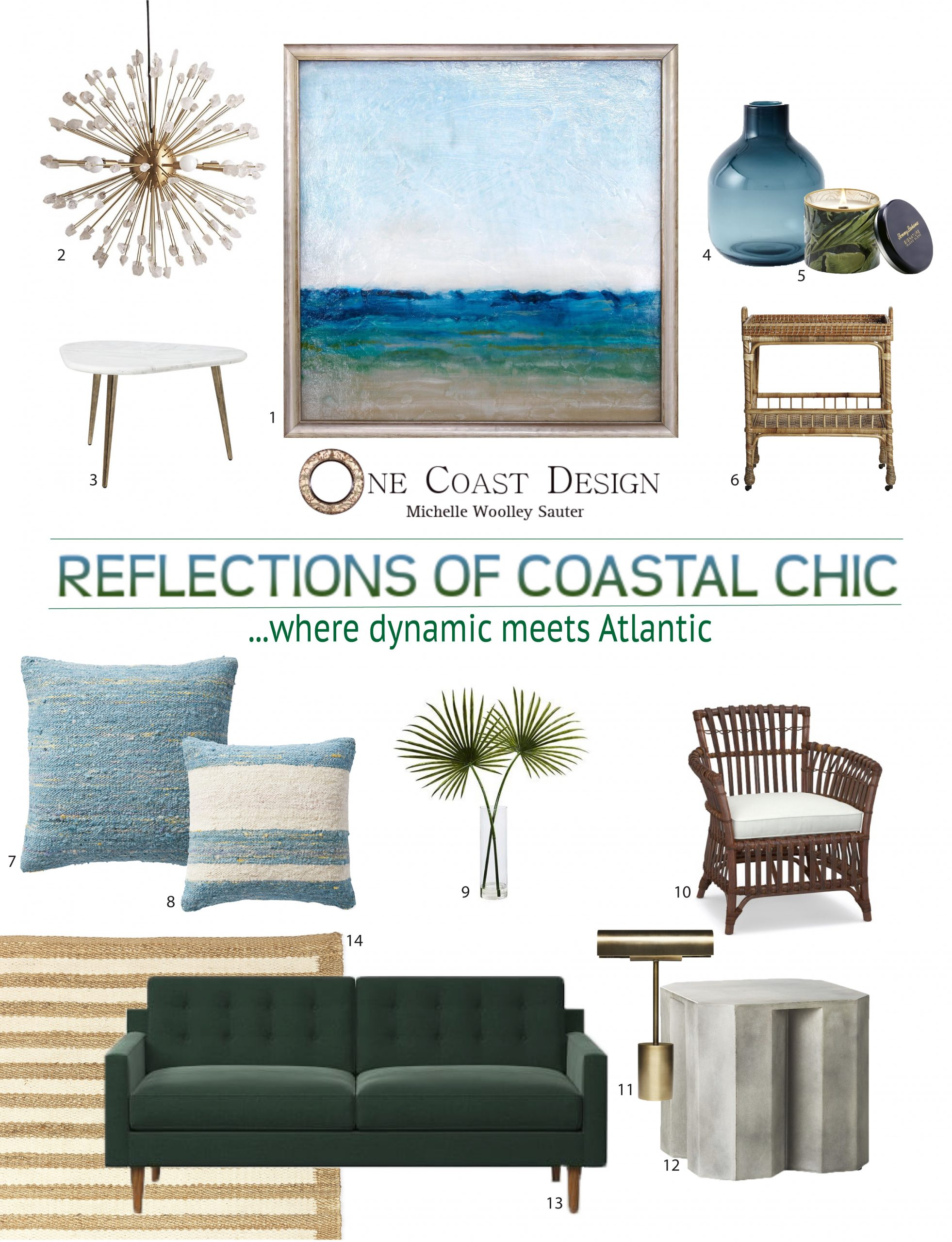 Reflections of Coastal Chic, One Coast Design, Michelle Woolley Sauter