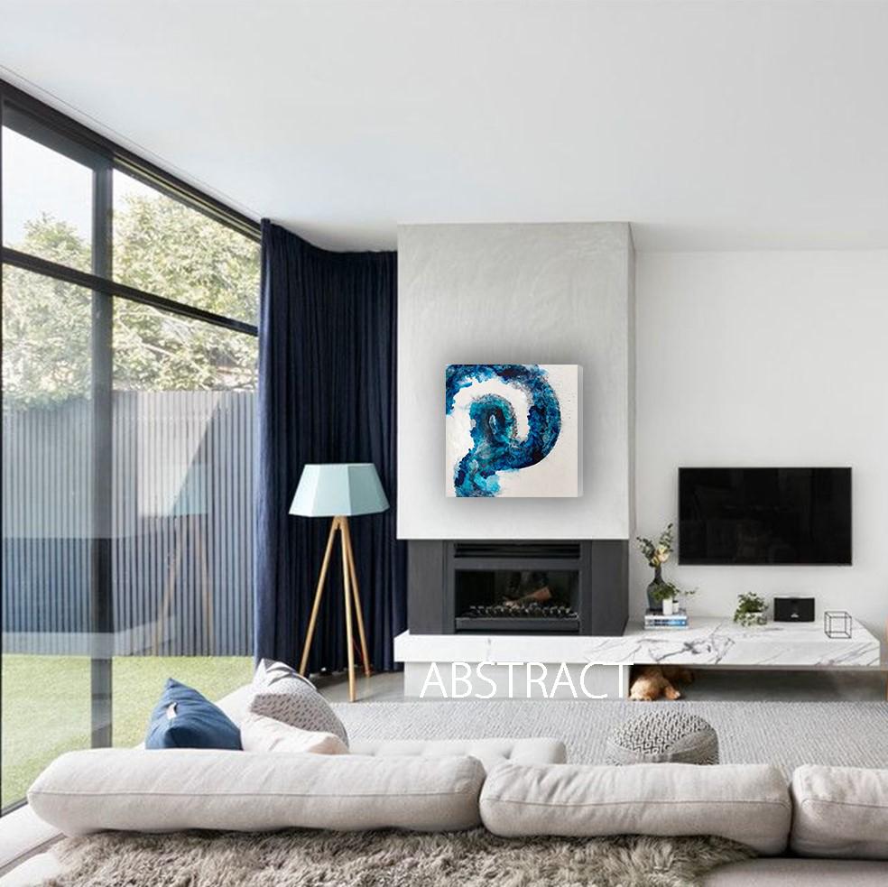 blue swirl, one coast design, art life