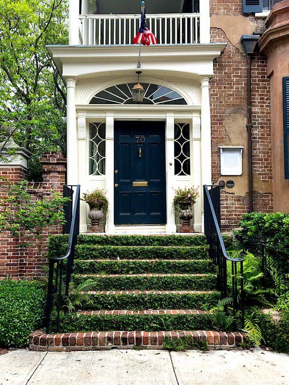 Boxwood Front Door, One Coast Design, Exterior door ideas, black doors, southern door ideas, charleston sc interior design, charleston sc architecture, summersville sc interior designer