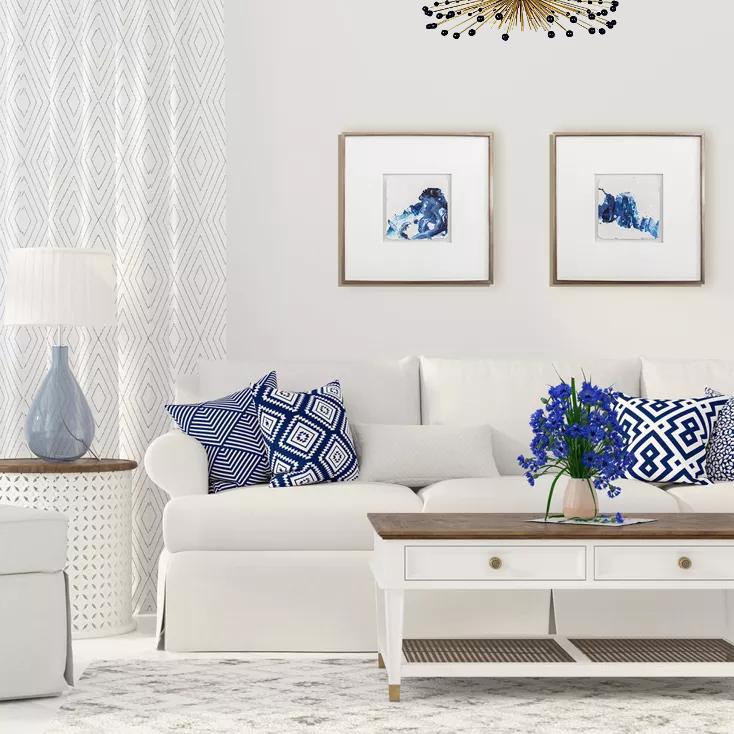 Home Decor Blue Mood In Modern Silver 1 One Coast Design