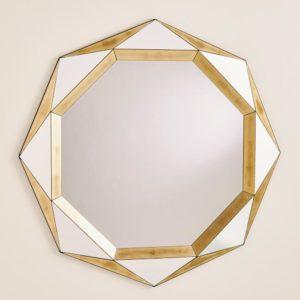 Madeleine Mirror Gold Leaf