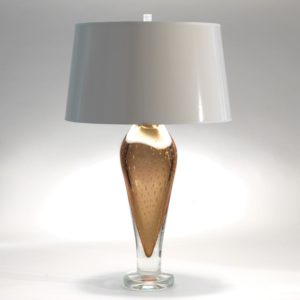 Golden Bubble Glass Lamp
