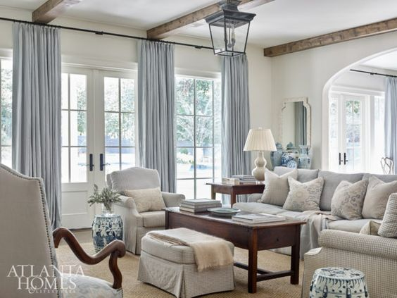 Neutral elements make this living room feel light and airy