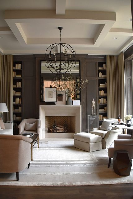 a modern take on neutral living room