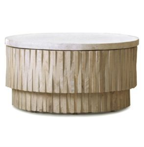 Coffee Table with Stone Top