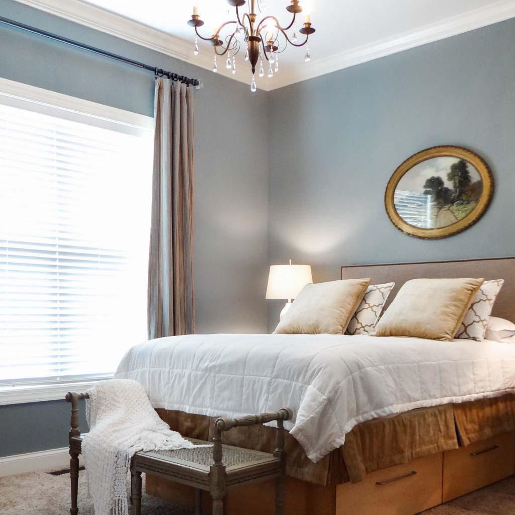 Guest bedroom renewal in Central North Carolina