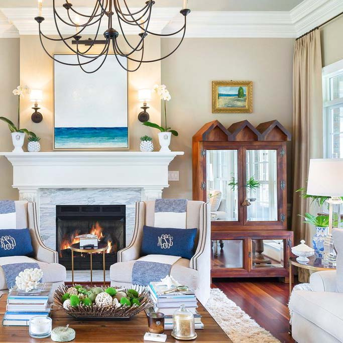 Living Room - One Coast Design Interior Design